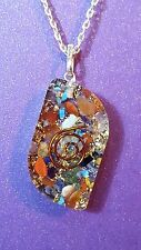 """NEW - ORGONE 7 Chakra Pendant and Chain. Shaped Pendant on an 18"""" Chain     m4"""
