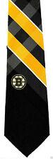 Boston Bruins Mens Necktie NHL Ice Hockey Logo Sports Fan Plaid Neck Tie New