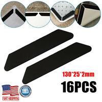 8 Pairs Rug Grippers Non Slip Anti Skid Reusable Washable Grip Floor Carpet Mat
