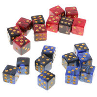 20pc Six Sided D6 Dice Digital Dices Set for D&D TRPG MTG Party Table Games