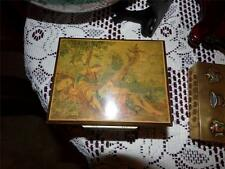MUSIC BOX WOODEN SWISS MADE BY LUCKY DAY ROMANTIC  VICTORIAN THEME  VNTG.