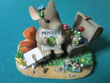 """CHARMING TAILS BY FITZ & FLOYD FIGURINE """"A TREASURE OF MEMORIES"""" 2 1/2 X 3 1/2"""