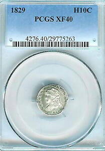 1829 Capped Bust Half Dime : PCGS XF40