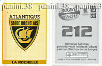 """RARE !! STADE ROCHELAIS Sticker n°212 """"RUGBY 2014-2015"""" Panini"""