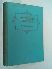 B SCHLUMBERGER.L'EXPLICATION LITTERAIRE.H/B 1961,DIDEROT.HETCH MAYER YOUDALE