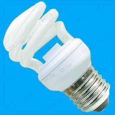 6x 14W Mini Spiral Low Energy CFL Light Bulbs ES, E27, Edison Screw Lamps, Globe