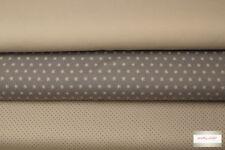 (EUR 13,27/m) Stoffpaket Jersey Punkte/Sterne/Uni 3x0,50m = 1,50m (Art 135)