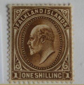 Falkland Islands 1904 – 1 Shilling – SG 48 – Mint (R2-E)