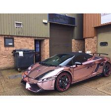 152x300cm ROSE GOLD CHROME STRETCHABLE CHROME VINYL CAR WRAP STICKER BUBBLE FREE