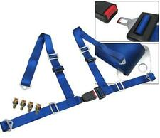 """4-Point racing seat belt harness with buckle lock Blue 2"""" Universal"""