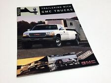 2001 GMC Sierra Sonoma Jimmy Yukon Denali XL Safari Savana Trailering Brochure