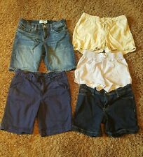 LOT OF 5 GIRLS SIZE 10 & 12 SHORTS OLD NAVY FADED GLORY LINEN, STRETCH, EUC