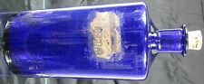 1850's Pontiled Free Blown Large Dark Cobalt Blue Apothecary Bottle~Nice Bottle