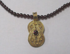 Hercules Knot Necklace W/ Box * Sterling Silver Gold Plated Garnet Amethyst