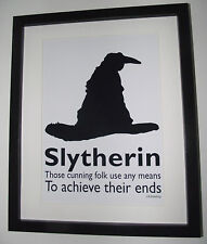 Harry Potter Inspired Sorting Hat - Slytherin Picture - A4 Art Print / Poster