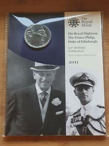 2011 Royal Mint HRH Prince Philip 90th Birthday £5 Pound BUNC Presentation Pack