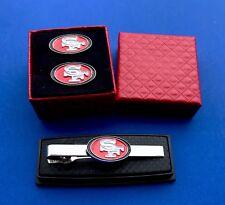 49ers Tie Clip & Cufflinks Set SF Tie Bar & Cuff Links Set (New)