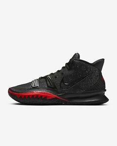 Nike Kyrie 7 Bred CQ9326-001 Black University Red Mens Basketball Shoes Sneakers