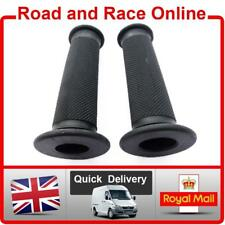Replacement Motorcycle / Motorbike Handlebar Grips in Black Open Ended Soft Comp