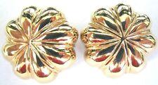 CINER Golden Mushroom Cap Vintage Clip Earrings