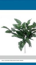 5x 40cm Leather Fern Bush Dark Green Artificial Leaves Plant Greenery Spray Posy