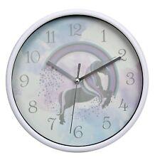 Unicorn Childrens Kids Playroom Nursery Wall Clock Time Keeper Timer Organiser
