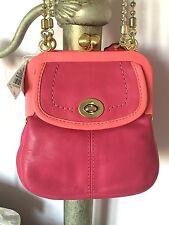 NEW Coach Limited Edition Bonnie Cashin Leather Small Frame Handbag Pink 13765
