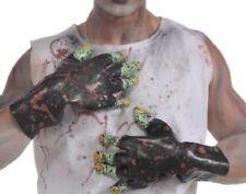 Rubie's Costume Zombie Shop Black Molded Gloves Black/Green One Size Halloween