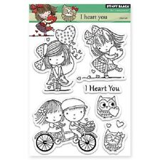 PENNY BLACK RUBBER STAMPS CLEAR I HEART YOU NEW clear STAMP SET NEW