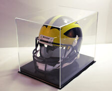 Football helmet display case solid base NFL NCAA 85% UV filtering acrylic