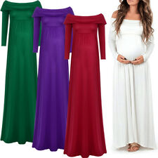 Maternity Gown Women Off Shoulder Evening Dress for Photo Shoot Baby Shower