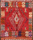 Vegetable Dye Authentic Moroccan Oriental Area Rug Hand-knotted Plush Wool 6x6