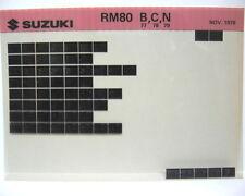 Suzuki RM80 1977 - 1979 Parts Microfiche s137