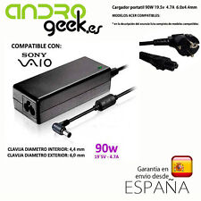 CARGADOR PORTATIL 90w 19.5V 4.7A  6.0x4.4mm compatible Sony Vaio.