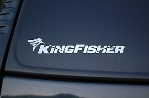Kingfisher Fishing Tackle Vinyl Sticker Decal (V235) Fish Choose Color & Size!!!