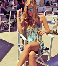 ZARA SIZE S SHORT TIE DYE DRESS Turquoise PRINTED MINIKLEID BATIKKLEID 2875/826