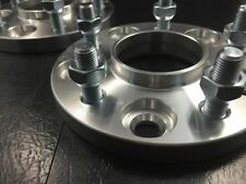 2X WHEEL SPACERS  ¦ 5X112 ¦ 66.6 CB¦ 20MM THICK | CONVERT TO LUG TYPE