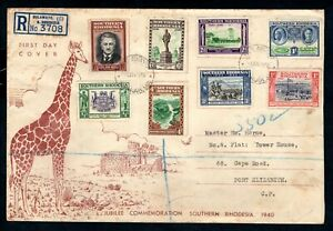 Southern Rhodesia - 1940 South Africa Company Golden Jubilee First Day Cover