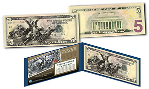 1896 EDUCATIONAL SERIES Designed NEW Legal Tender Modern Five-Dollar $5 Bill COA