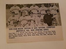 Graysville Alabama Dixie Sporting Goods Buffalo Sloan Bruins 1970 Baseball Team