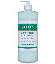 Biotone Herbal Select Foot Massage & Spa Therapy Lotion - 32 Ounce Pump Bottle