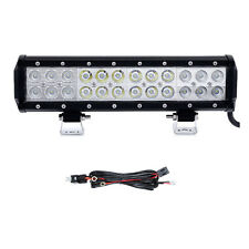 12inch 72W CREE Offroads LED Work Light Bar Flood Spot Combo +  Wiring Harness