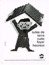 PUBLICITE  1971   TB   tuiles terre cuite & briques
