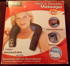 Homedics Neck & Shoulder Massager, Model NMSQ 100A ~ 2 Speeds With Heat ~