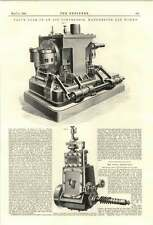1894 Engranaje de válvula de un compresor de aire Manchester Gasworks
