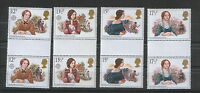 UNITED KINGDOM-MNH**  - 4 GUTER PAIRS-EUROPA CEPT-1980.