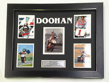 MICK DOOHAN PROFESSIONALLY FRAMED, SIGNED PHOTO COLLAGE WITH PLAQUE