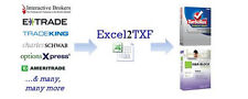 Excel2TXF - Import Your Stock & Option Trades into TurboTax, H&R Block At Home