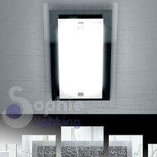 Plafoniera lampada 32x22 design moderno vetro binco nero bagno ingresso cucina