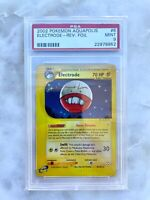 Electrode Reverse Holo Foil Pokemon Card 2003 e-Aquapolis 8/147 BGS PSA 9 MINT